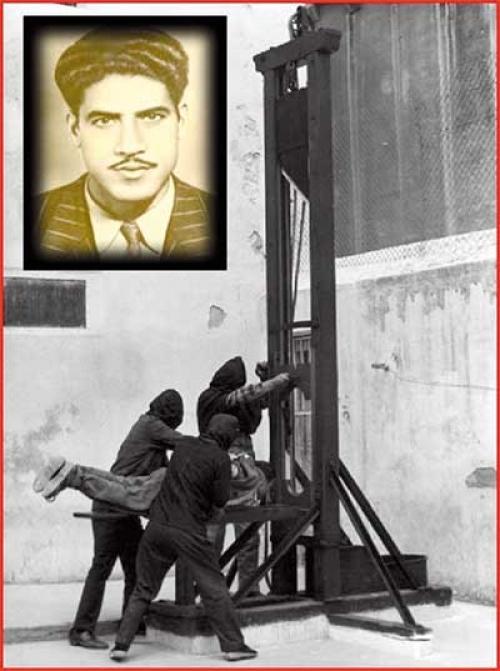 يومية الشعب الجزائرية أحمد زبانة أول شهيد يعدم بالمقصلة